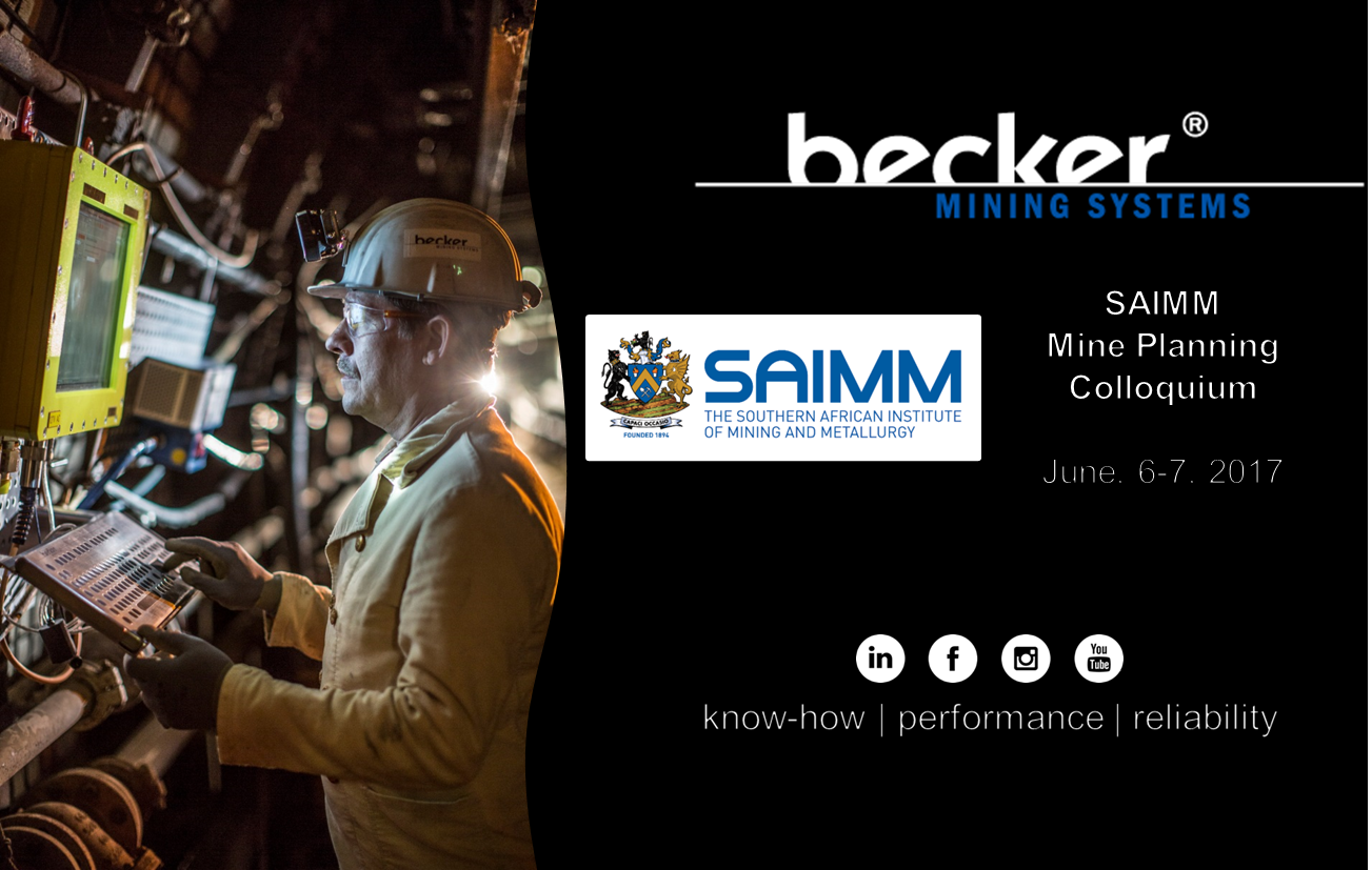 SAIMM Conference 2017 | Becker Mining Systems AG