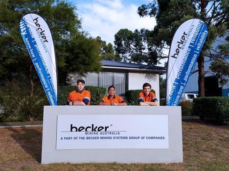 The new apprentices Luke Matt, Alex Harper and Edgar Atkins (l.t.r.)